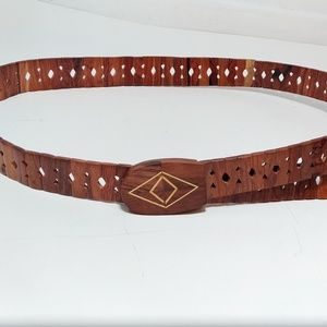 Wooden Adjustable Belt Bamboo Boho Festival